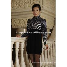 Vestido feminino de camisola feminina / 100% malhas de cashmere puro