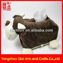 Venta caliente de alta calidad nuevo diseño animal juguetes felpa caja de pañuelos