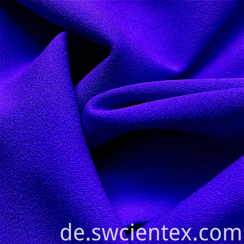 Sapphire Blue Spandex Smooth Polyester Cloth Dty Fabric