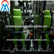 Máquina de vassoura de 5 eixos com 3 cabeças de perfuração e 2 tufting heasds