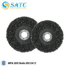Polimento e disco de aba preta de 5 polegadas