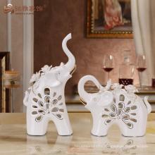 Unique design hollow animal ceramic elephant figurines for wedding favors