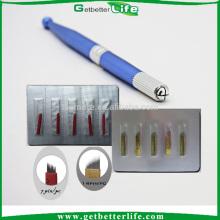 Agulhas caneta 3D sobrancelha bordado manual maquiagem