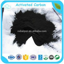 Solution decoloring by coal powder activated carbon