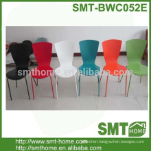 Simple Solid Birch Colorful Mental Legs Bentwood Dining Chair Design