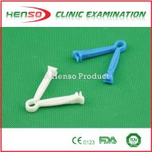 Braçadeira de cordão umbilical de plástico estéril descartável médico Henso