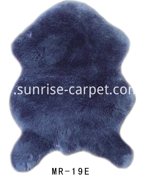 Imitation Fur With Dark Purple