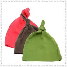 Chapéu de nó de algodão orgânico de bebê