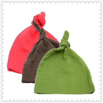 Sombrero de nudo de algodón orgánico del bebé
