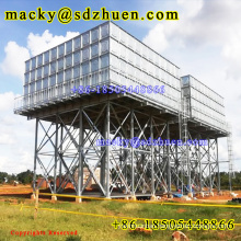 16m galvanized steel tower for water tank and assembled galvanized steel water tank for school