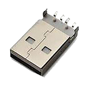 USB A Type Plug SMT Mid-Mount 3,4mm