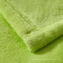 Single printed flannel fabric