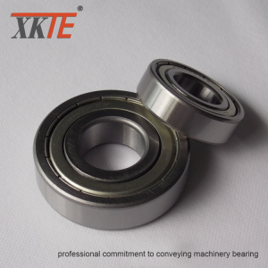 Conveyor Idler Parts Iron Shielded Bearing 6204 ZZ