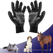 Badepinsel-Werkzeug und sanfte Deshedding-Bürste Hundesorgfalt-Handschuhe