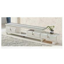 Weiße Creme Marmor TV-Ständer mit Edelstahlbeinen (8006)