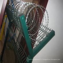 Fil de fer barbelé PVC pour la clôture de sécurité