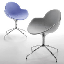 Infiniti Polycarbonate Cookie Swivel Upholstered Chair