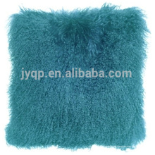 almohada de tela de piel de oveja de lujo genuino