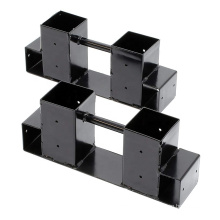 Höhenlängenverstellbares Metall-Brennholz-Lagerregal für den Innenbereich