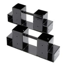Support de stockage de bois de chauffage intérieur réglable en hauteur en hauteur