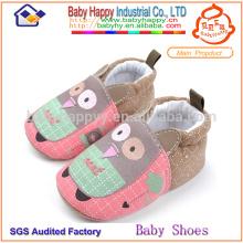 Chaussures de bébé en coton drôles garçons et filles chaussures de toile avant marcheur bébé