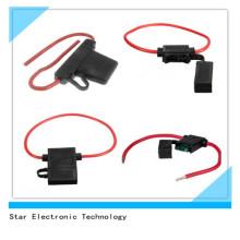 Фабрика цена автомобильной авто лезвие Inline автомобиль предохранителя с красным 10AWG провода