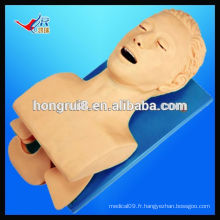 VENTE CHAUDE Modèle électronique d'intubation des voies respiratoires