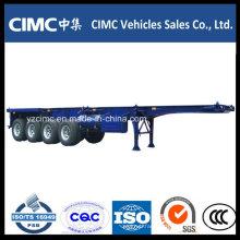 Cimc 4 Axle 100 Ton Container Skeletal Semi Trailer