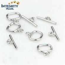 Fashion Design Pearl Jewelry Clasp 925 Sterling Silver Toggle Clasp