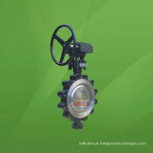 Válvula Borboleta De Vedação De Metal Triplo Excêntrico Tipo Lug JIS (GAD373)