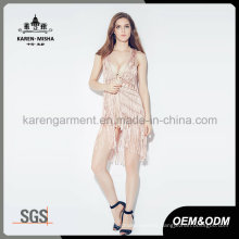 Karen Pink Knitted Cardigan Vest with Net Back