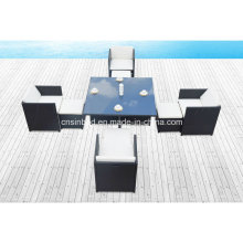 Dining Table & Chairs for Outdoor Wth 4 Footstools (8219KD-1)