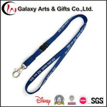 Pantalla de seda personalizada impreso poliester cordones tubulares con gafete/tarjeta de