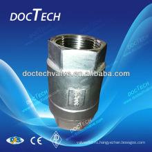 """Клапан DN15 1/2"""" CF8 1000WOG весной типа в одну сторону клапан, из нержавеющей стали Китай дистрибьютор"""