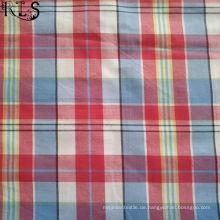 100% Baumwolle Popeline gewebt Garn gefärbt Stoff für Hemden / Kleid Rls32-8