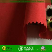 Poliéster 1/3 sarga tela de piel de melocotón cepillado tela para la chaqueta de invierno