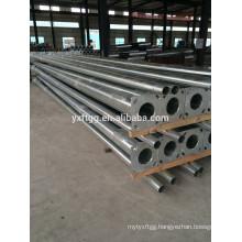 Galvanized steel tapered street lighting poles