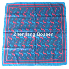OEM Produce Customized Design Printed Promoitonal Satin Silk Like Square Scarf