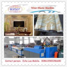 Extrusora moldando decorativa interior de pedra plástica do PVC