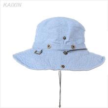 пользовательские широкими полями пустым джинсы Denim ведро шляпа с строку