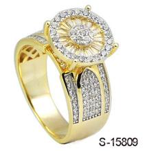 14k золото покрыло ювелирных изделий кольцо Серебро 925