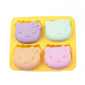 Molde do chocolate do bolo do silicone de 4 faces Holle-Kitty