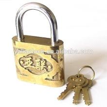 High Security Yalian Brand Golden Colour Safety Cute Cheap Cast iron Padlock