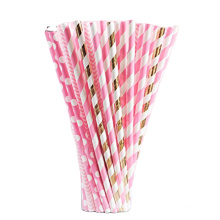High quality new product disposable printed paper hemp drinking paper straws for party
