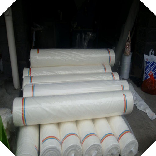 white fabric packing