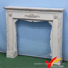 Shabby Chic Vintage Indoor Freestanding Decoritive Fireplace, Antique Mantel