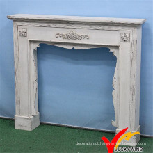 Shabby Chic Vintage Interior Decorante Independente Lareira, Antique Mantel