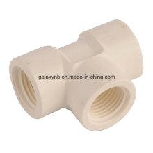 Té en PVC Sch40 ASTM épaisseur pour l'Irrigation