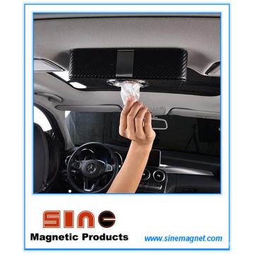 Forme la caja magnética del tejido fino del cuero de la PU para el coche