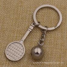 Porte-clés en métal Mini Keychain en forme de tennis pour la vente (KQ-20)